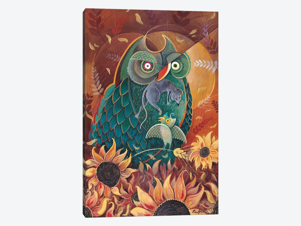 Breakfast Among Sunflowers by Martin Cambriglia 1-piece Canvas Print
