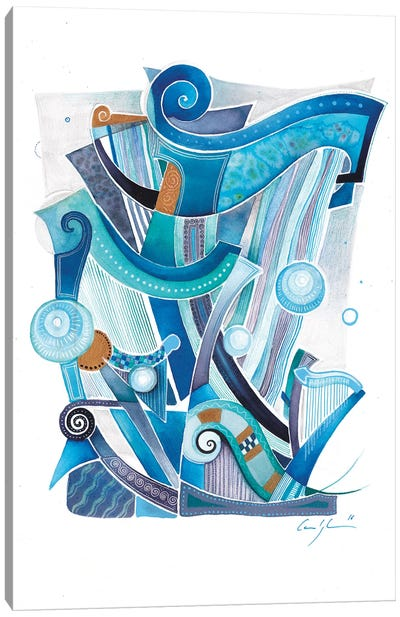 Celestial Harps II Canvas Art Print