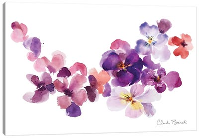 Pansy Party Canvas Art Print