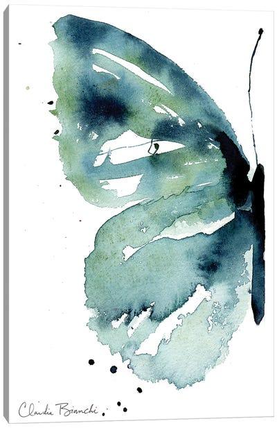 Blue Butterfly Half Canvas Art Print