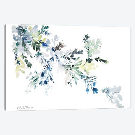 Blue Floral Wash 3-Piece Canvas #CBI13} by Claudia Bianchi Canvas Wall Art