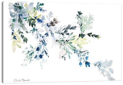 Blue Floral Wash Canvas Art Print