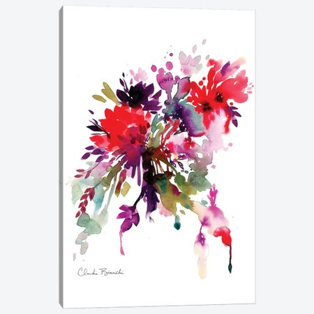 Bright Floral Canvas Print #CBI15} by Claudia Bianchi Canvas Print