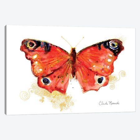 Butterfly In Gold Canvas Print #CBI17} by Claudia Bianchi Canvas Print