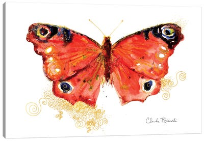 Butterfly In Gold Canvas Art Print
