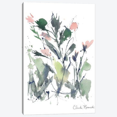Abstract Floral Pink Blooms 3-Piece Canvas #CBI1} by Claudia Bianchi Canvas Art