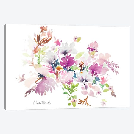 Fluffy Floral Canvas Print #CBI30} by Claudia Bianchi Canvas Wall Art