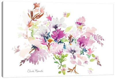 Fluffy Floral Canvas Art Print