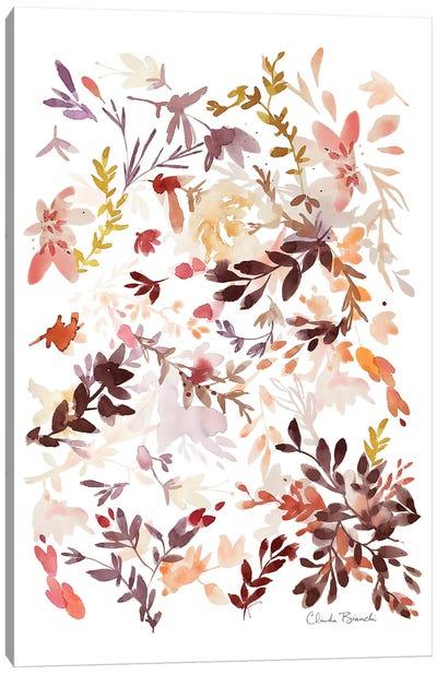 Leaf Scatter I Canvas Art Print
