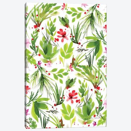 Leaf Scatter II Canvas Print #CBI35} by Claudia Bianchi Canvas Art Print