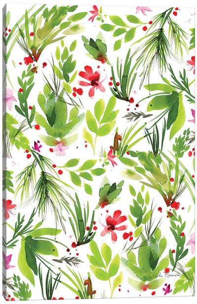 Leaf Scatter II Canvas Art Print
