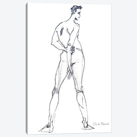 Male Study Stance 3-Piece Canvas #CBI39} by Claudia Bianchi Canvas Artwork