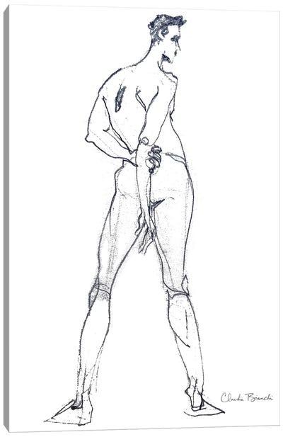 Male Study Stance Canvas Art Print