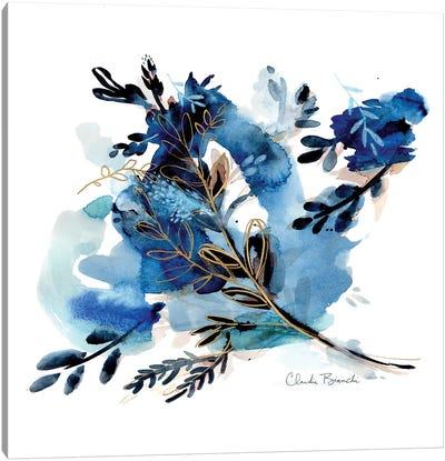 Morning Dew Indigo Canvas Art Print