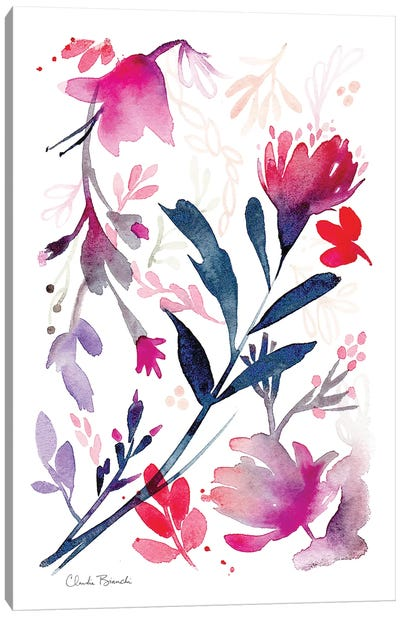 Petite Floral Canvas Art Print