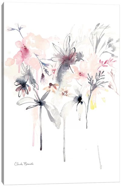 Pink Scatter Canvas Art Print