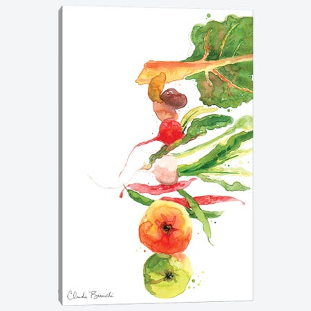 Stacked Veg Canvas Print #CBI71} by Claudia Bianchi Canvas Artwork