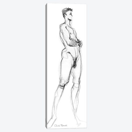 Standing Male Side View Study 3-Piece Canvas #CBI72} by Claudia Bianchi Canvas Wall Art