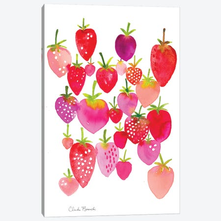 Strawberry Fields Canvas Print #CBI73} by Claudia Bianchi Canvas Art