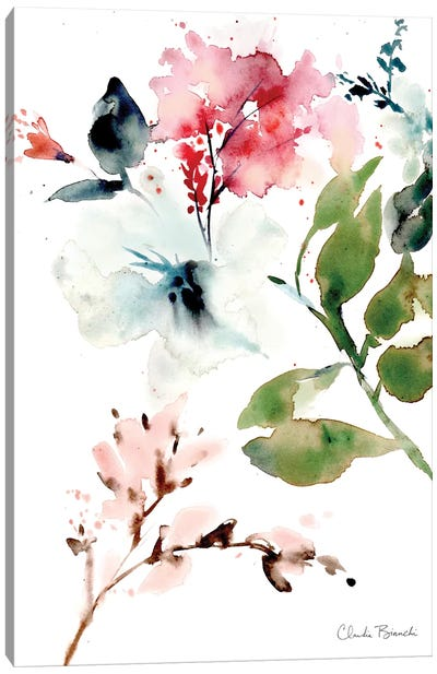 Winter Blooms Canvas Art Print