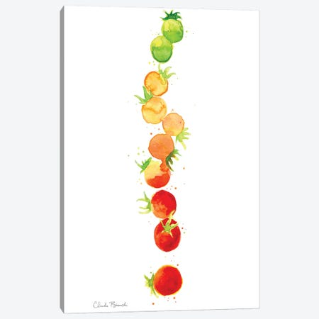 Tomato Ombre Stack Canvas Print #CBI98} by Claudia Bianchi Canvas Artwork