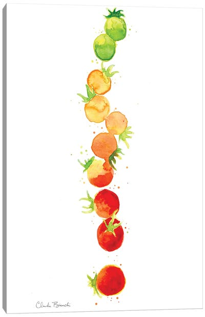 Tomato Ombre Stack Canvas Art Print