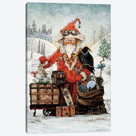 Santa Goes To Magical School Canvas Print #CBK15} by Cheryl Baker Art Print