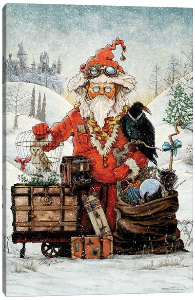 Santa Goes To Magical School Canvas Art Print