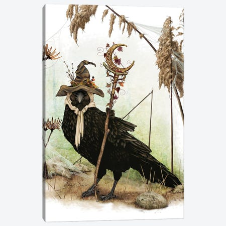 The Crow Of Crescent Hill Canvas Print #CBK18} by Cheryl Baker Canvas Artwork