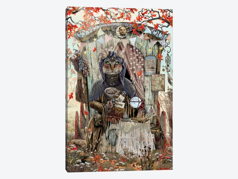 The Gypsy Fortune Teller by Cheryl Baker 1-piece Canvas Art Print