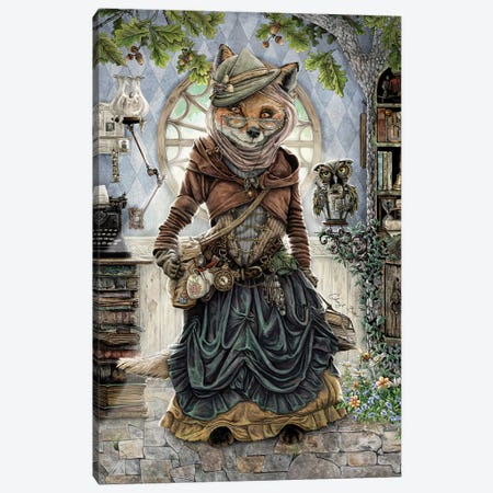 The Librarian Canvas Print #CBK22} by Cheryl Baker Canvas Print