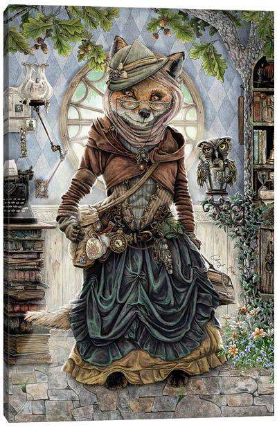 The Librarian Canvas Art Print