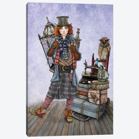 The Mad Hatter Goes To A Magical School Canvas Print #CBK23} by Cheryl Baker Canvas Art Print