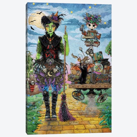 The Wicked Witch Of The West Canvas Print #CBK24} by Cheryl Baker Canvas Artwork