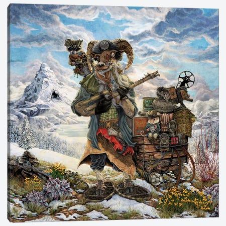 The Yeti Trapper Canvas Print #CBK27} by Cheryl Baker Canvas Art