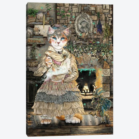 Tilly Thislewood Canvas Print #CBK28} by Cheryl Baker Art Print