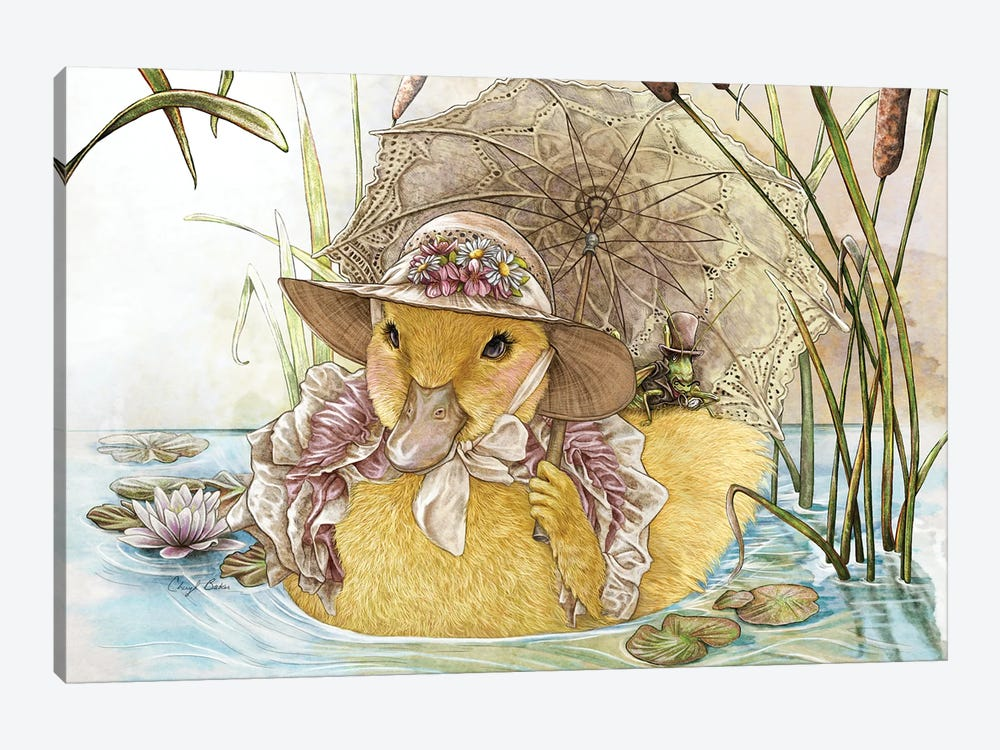 A Stroll With Miss Claire by Cheryl Baker 1-piece Art Print