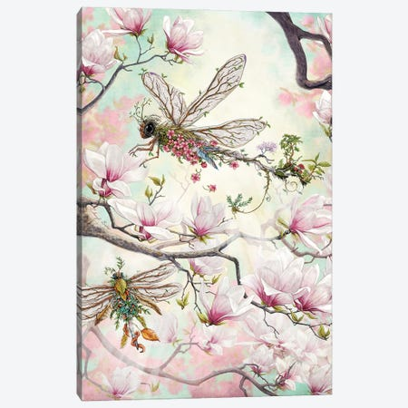 Woodland Dragonflies Canvas Print #CBK30} by Cheryl Baker Canvas Art