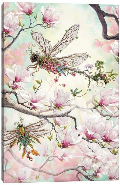 Woodland Dragonflies Canvas Art Print