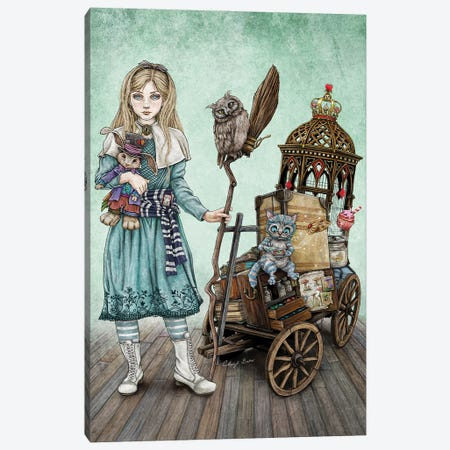 Alice Goes To A Magical School Canvas Print #CBK3} by Cheryl Baker Canvas Artwork