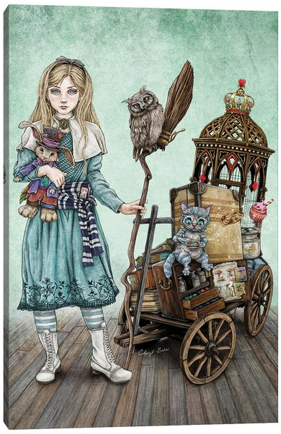 Alice Goes To A Magical School Canvas Art Print