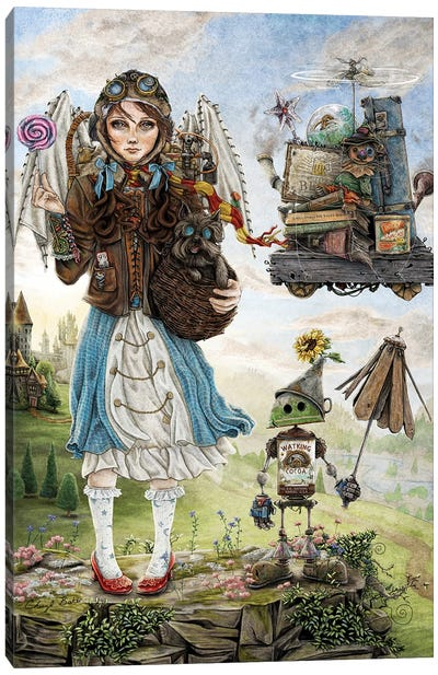 Dorothy Goes To A Magical School Canvas Art Print