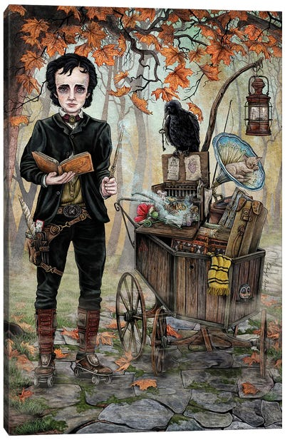 Edgar All Poe Goes To A Magical School Canvas Art Print