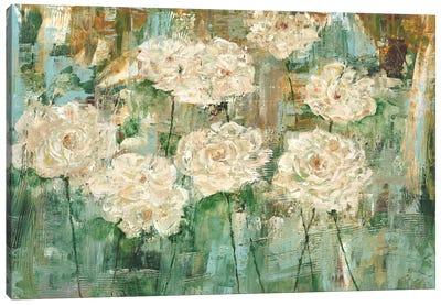 White Roses I Canvas Art Print