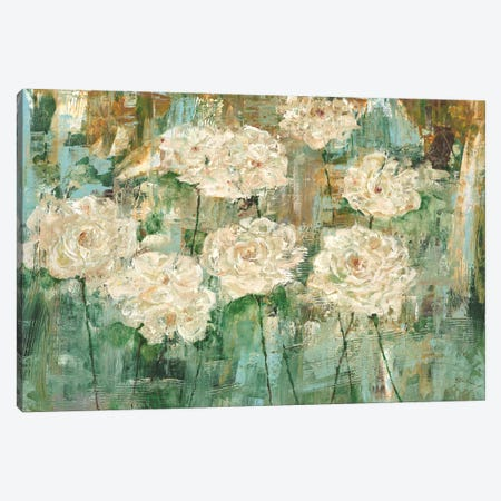 White Roses I Canvas Print #CBL17} by Carol Black Canvas Wall Art