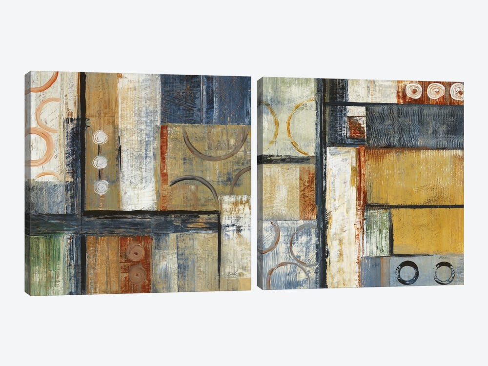Coincidental Lines Diptych by Carol Black 2-piece Canvas Print