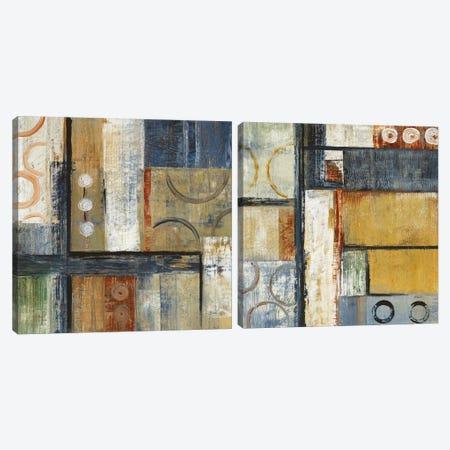Coincidental Lines Diptych Canvas Print Set #CBL2HSET001} by Carol Black Canvas Print