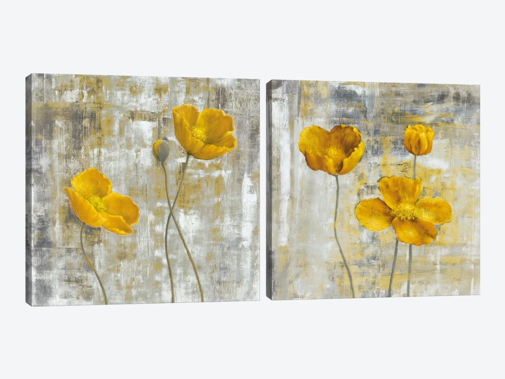 Yellow Flowers Diptych by Carol Black 2-piece Canvas Art