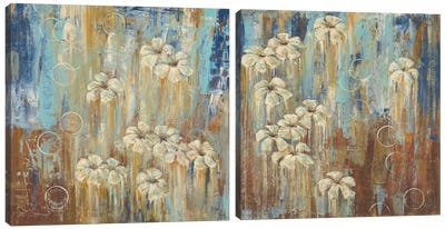 Island Shower Diptych Canvas Art Print