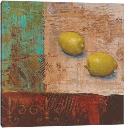 Lemons from Paris II Canvas Art Print